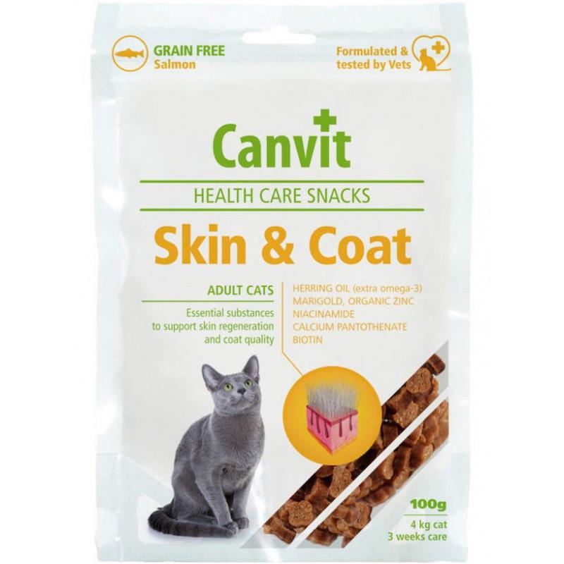 Canvit (Канвит) Skin&Coat Snack - Полувлажное лакомство с лососем для здоровой кожи и красивой шерсти котов