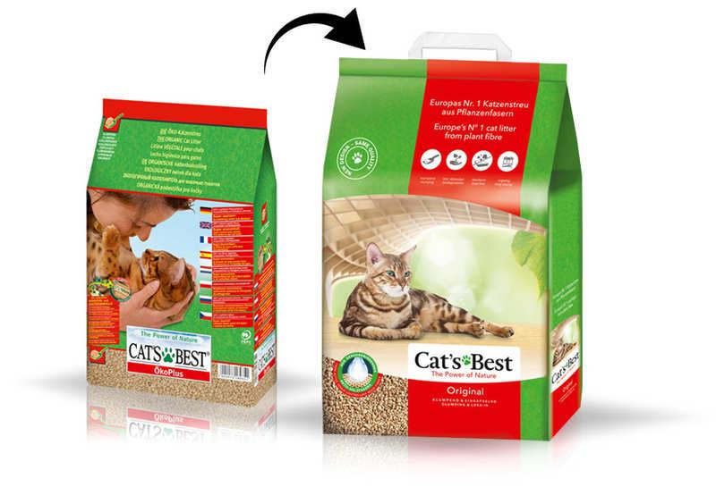 Cat's Best (Кэтс Бест) Original - Древесный хлопьевидный комкующийся наполнитель для кошачьего туалета - Фото 9