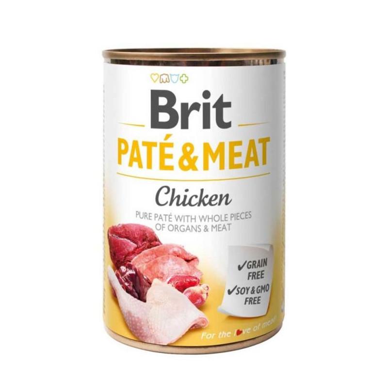 Brit (Брит) PATE & MEAT Chicken - консервы для собак с курицей