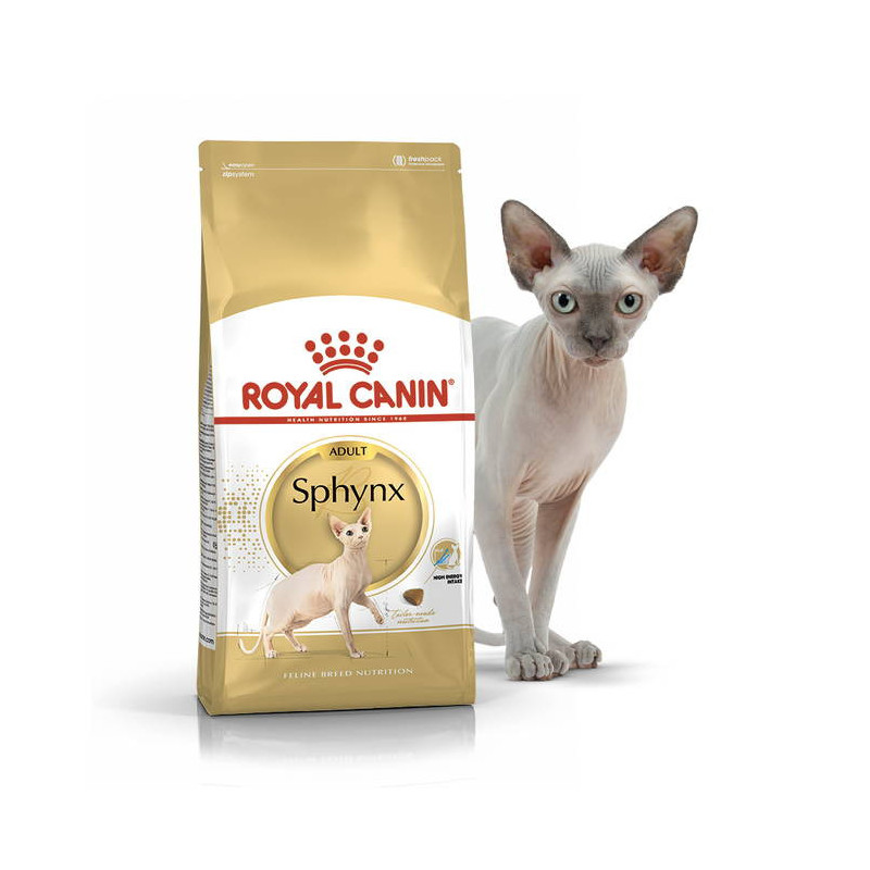 Royal Canin (Роял Канин) Sphynx Adult - Сухой корм с птицей для взрослых кошек породы Сфинкс