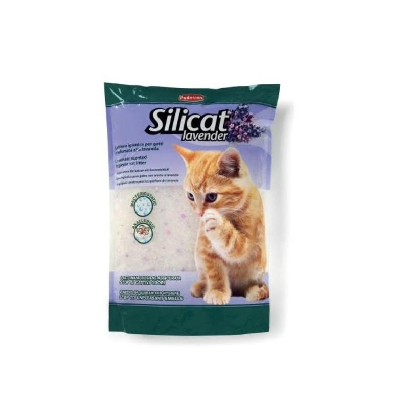 Padovan (Падован) SILICAT. Наполнитель силикагелевый для кошачьих туалетов с лавандой