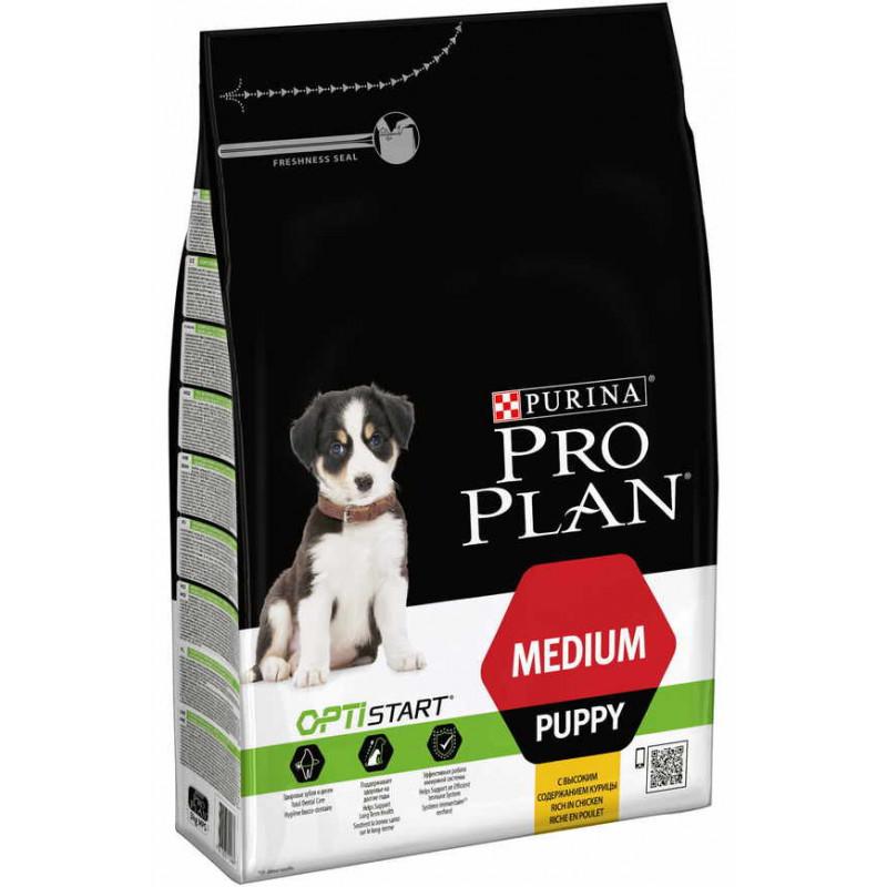 Purina Pro Plan (Пурина Про План) Puppy Medium Chiken Cухой корм для щенков собак средних пород с курицей