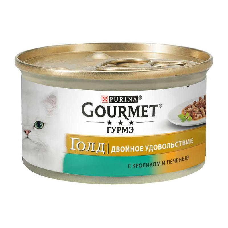 Gourmet Gold (Гурмэ Голд) - Консервированный корм с кроликом и печенью для взрослых кошек