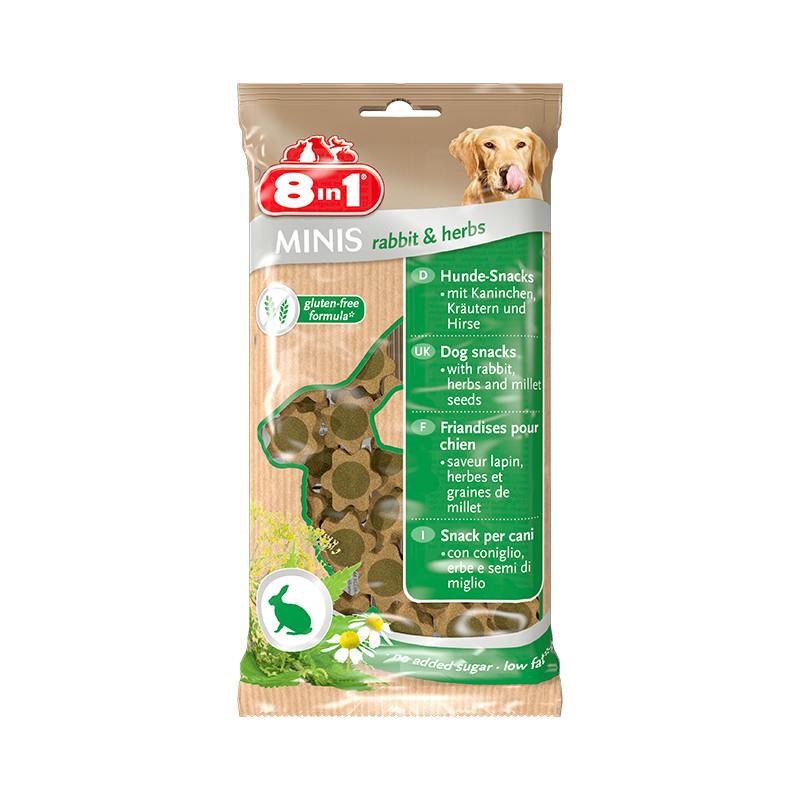 8in1 Minis Rabbit & Herbs лакомство для собак c кроликом и травами
