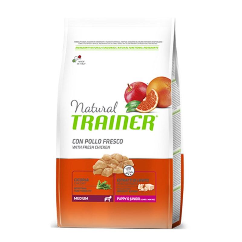 Trainer (Трейнер) Natural Puppy&Junior Medium - Сухой корм с курицей и индейкой для щенков и юниоров средних пород