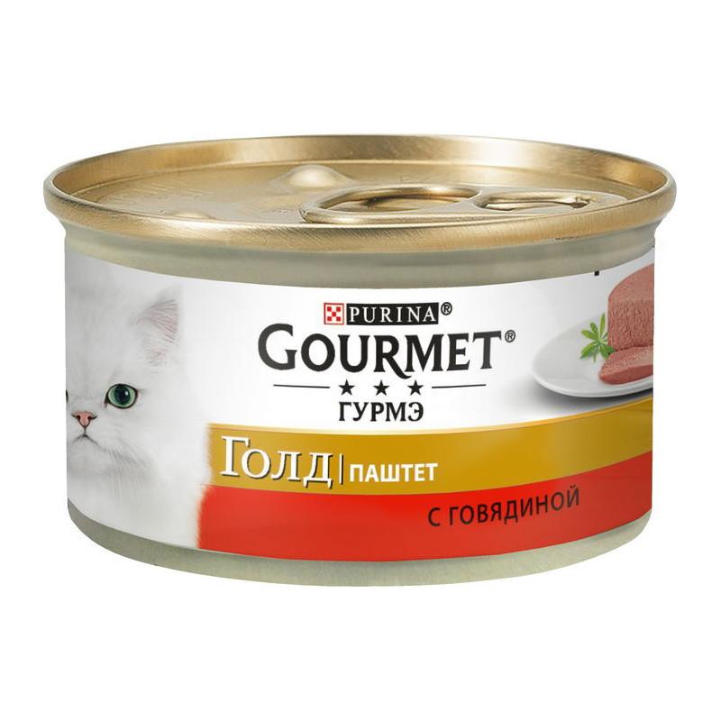 Gourmet Gold (Гурмэ Голд) - Консервированный корм паштет с говядиной для взрослых кошек