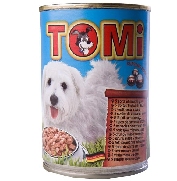 Консервы TOMi 5 kinds of meat Супер премиум корм для собак , консервы с 5-ю видами мяса