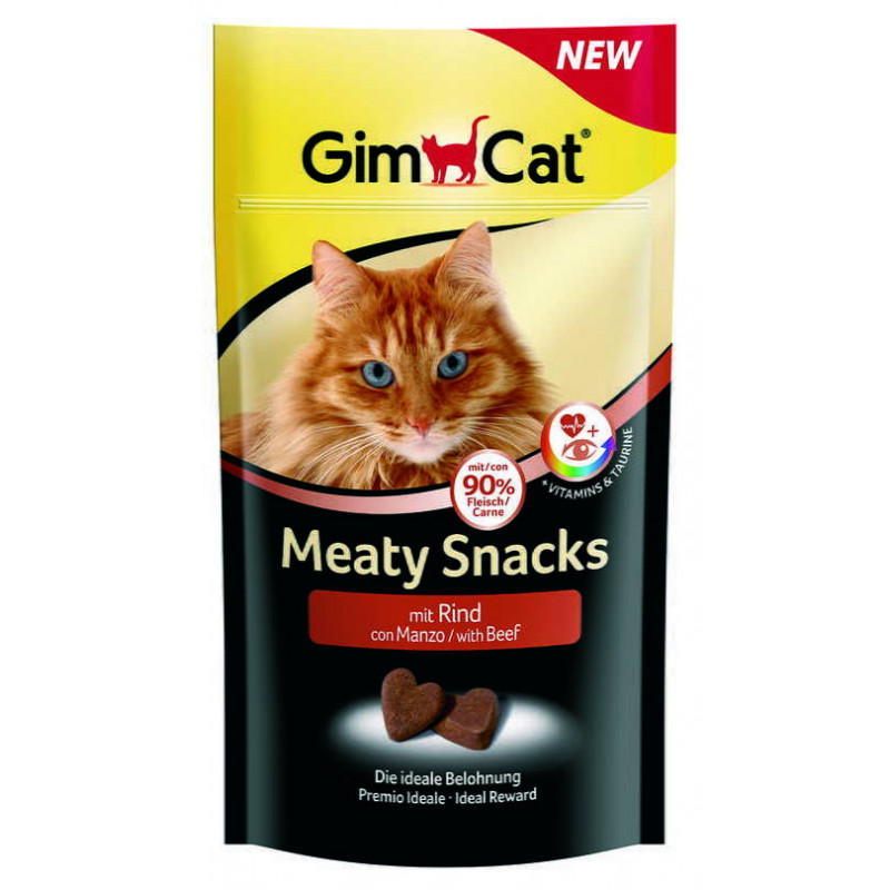 GimСat (ДжимКэт) Meaty Snacks. Лакомство с говядиной и таурином для котов