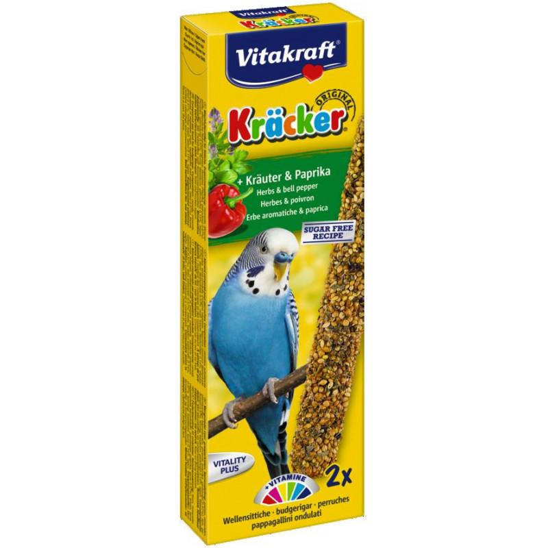Крекер VITACRAFT для волнистых попугаев с травами и паприкой