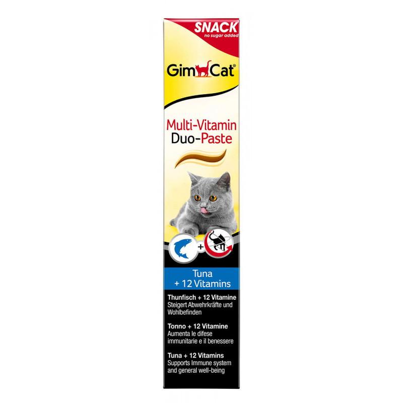 GimCat (ДжимКэт) Multi-Vitamin Tuna & Vitamins Duo-Paste - Мультивитаминная паста для котов с тунцом