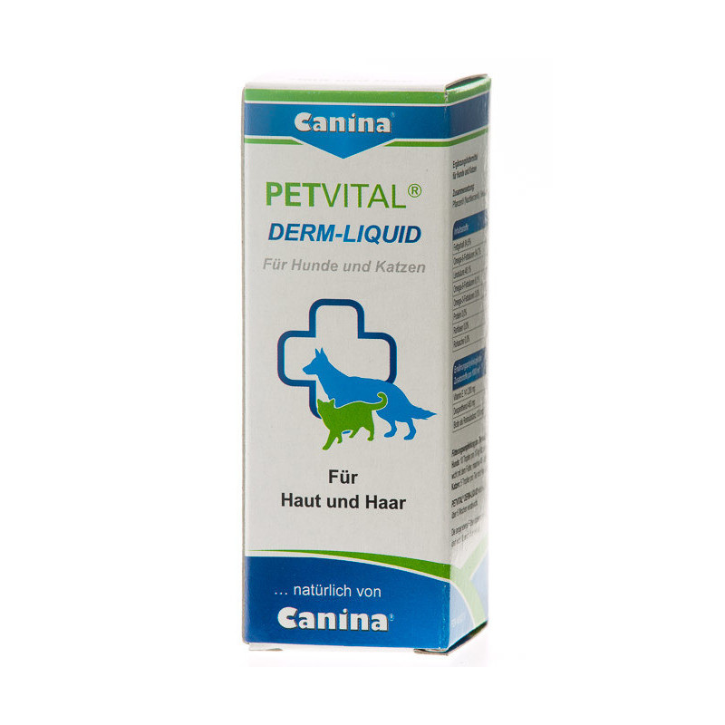 Жидкость Canina PETVITAL Derm-Liquid Петвитал дерм ликвид для кошек и собак