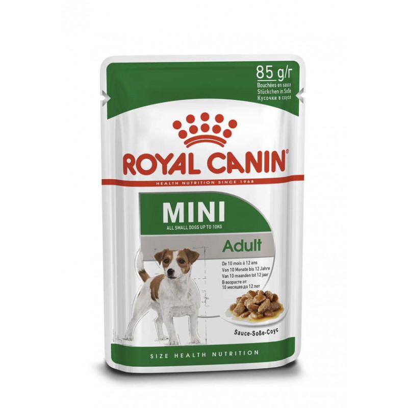 Royal Canin (Роял Канин) Mini Adult Влажный корм для собак мелких пород, кусочки в соусе