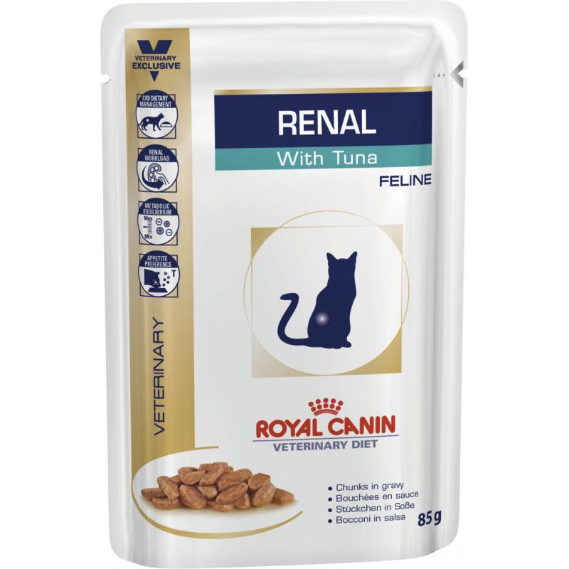 Royal Canin (Роял Канин) RENAL FELINE with TUNA - Консервированный корм с тунцом для кошек при почечной недостаточности