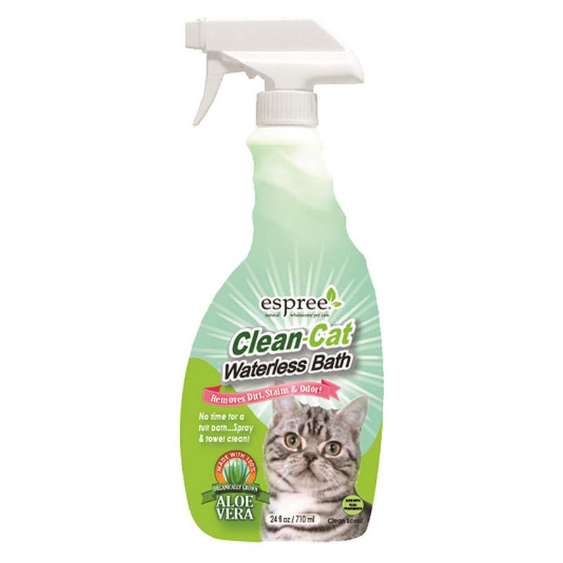 ESPREE (Эспри) Clean-Cat Waterless Bath - Спрей для экспресс чистки кожи и шерсти котов с алоэ вера