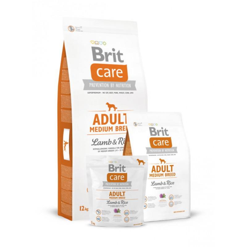 Brit Care (Брит Кеа) ADULT MEDIUM BREED Lamb&Rice для собак средних пород (ягненок/рис)