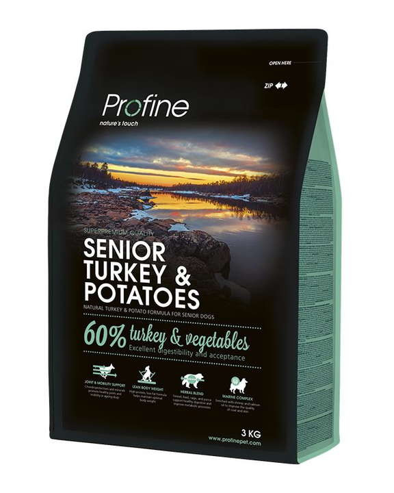 Profine (Профайн) Senior Turkey&Potatoes - Сухой корм для пожилых собак с индейкой и картофелем - Фото 2
