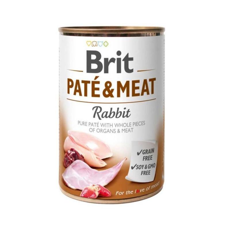 Brit (Брит) PATE & MEAT Rabbit - консервы для собак с кроликом