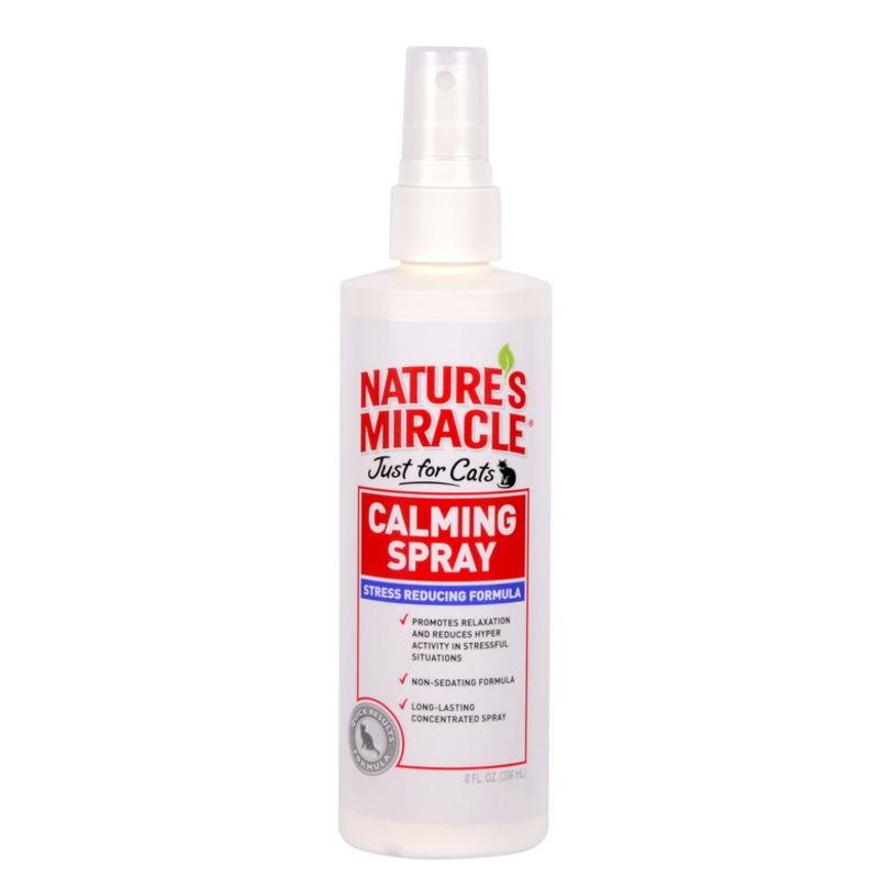 Nature's Miracle (Нейчерс Миракл) No Stress Calming Spray. Спрей успокаивающий для кошек. Антистресс