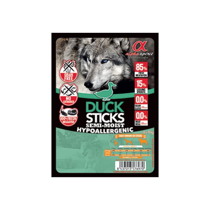 Alpha Spirit (Альфа Спирит) Sticks Duck&Chicken - полувлажное лакомство для собак, палочки с уткой и курицей