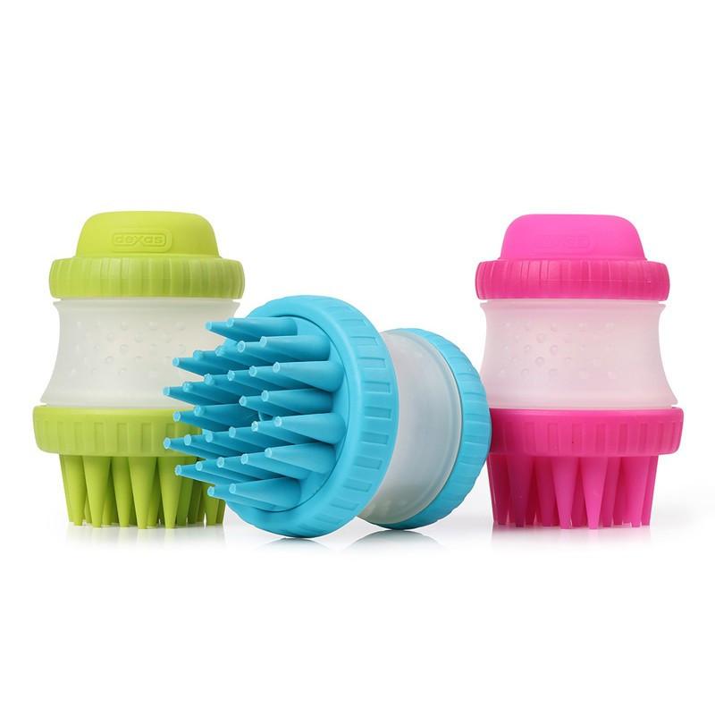 Dexas (Дексас) Scrub buster - Массажная щетка для купания собак с резервуаром для шампуня