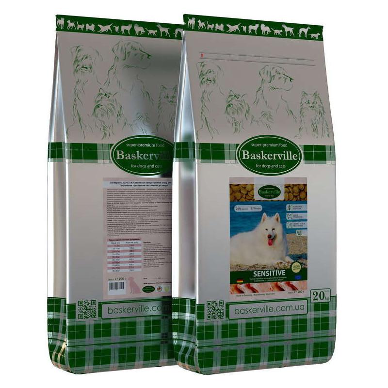 Baskerville (Баскервиль) Sensitive Сухой корм для взрослых собак с чувствительным пищеварением