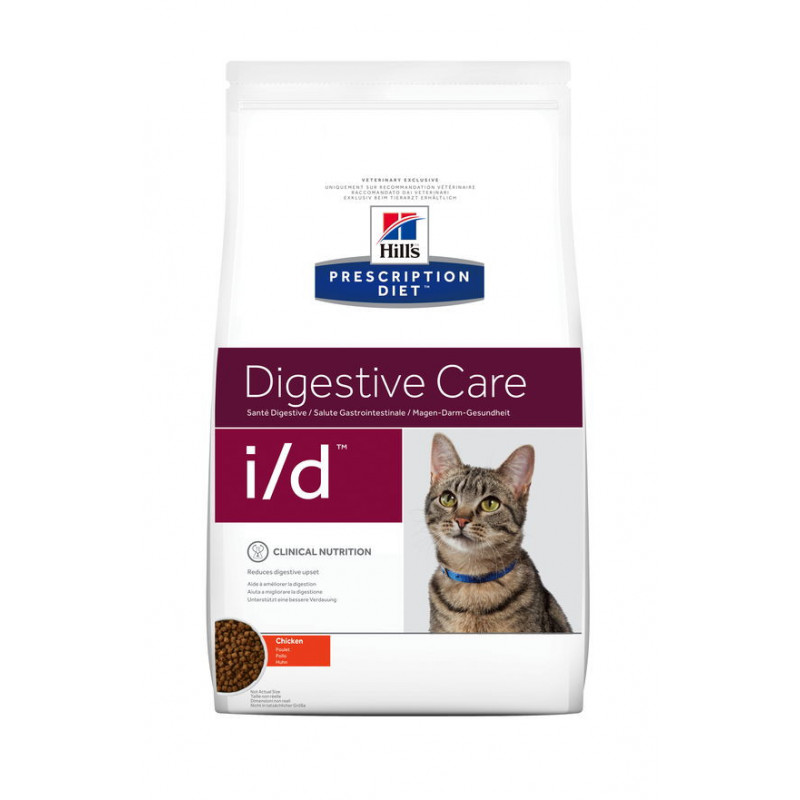 Hill's (Хиллс) Prescription Diet i/d Digestive Care - Корм-диета для кошек с курицей ЗДОРОВЬЕ ЖКТ