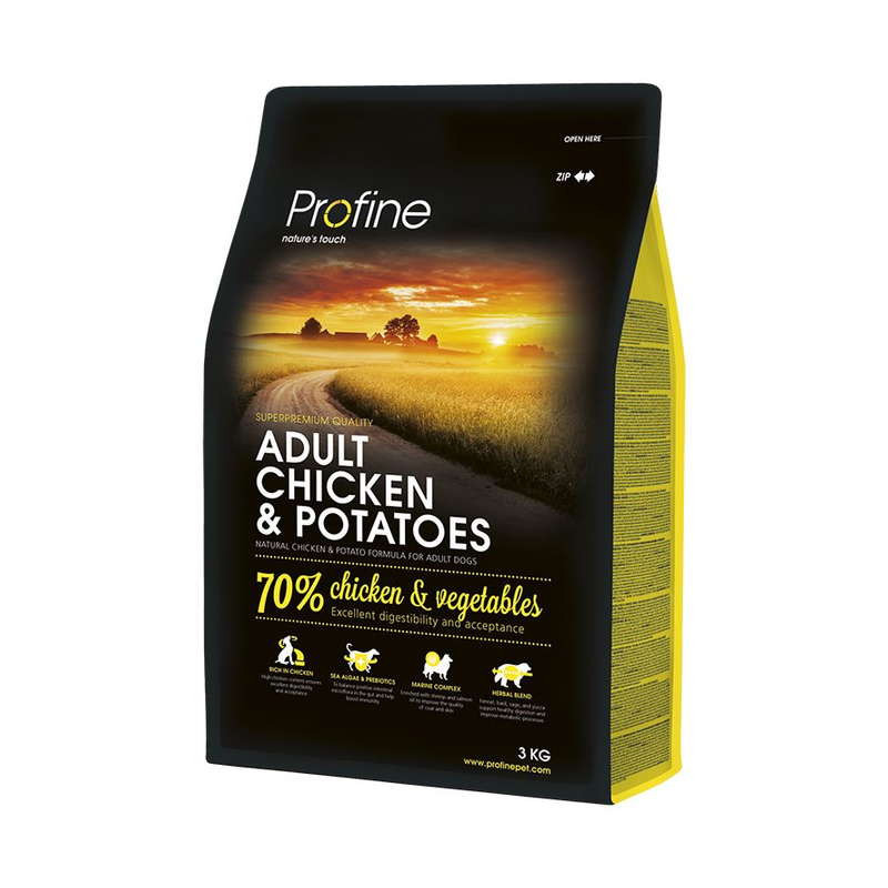 Profine (Профайн) Adult Chicken&Potatoes - Сухой корм для взрослых собак с курицей и картофелем