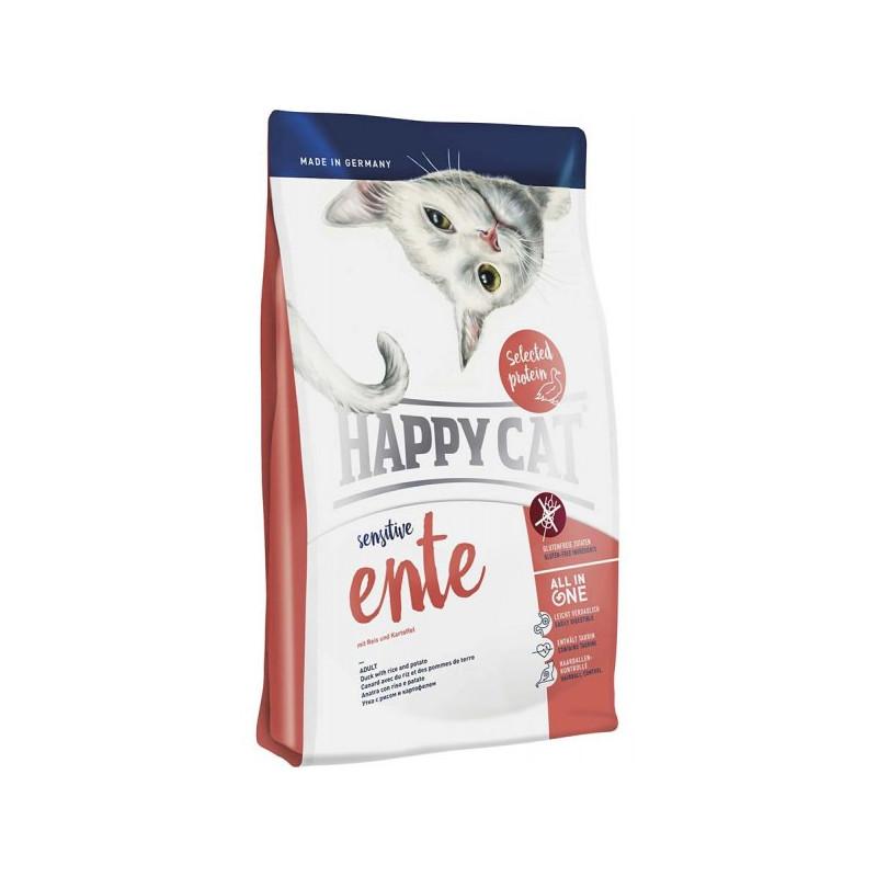 Happy Cat Sensitive Ente - сухой корм для котов с чувствительным пищеварением (вкус-утка)