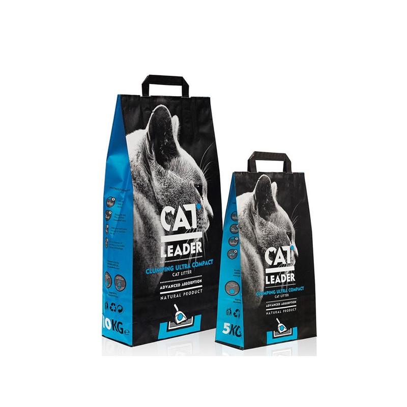 Cat Leader (Кэт Лидер) - Наполнитель ультра-комкующийся натуральный для кошачьих туалетов