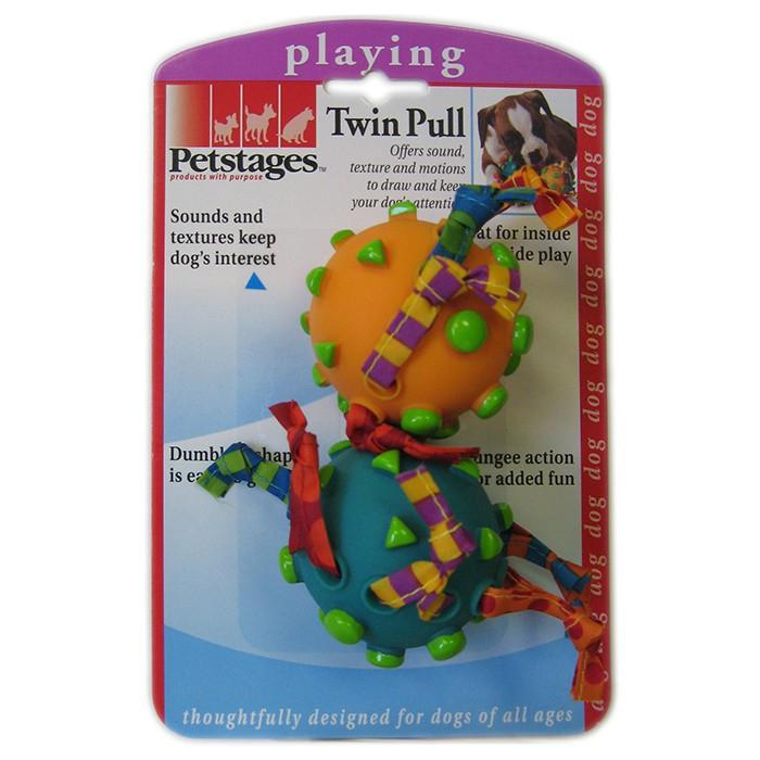 """PETSTAGES Twin Pull Игрушка для собак """"Два мяча на канате"""" - Фото 2"""