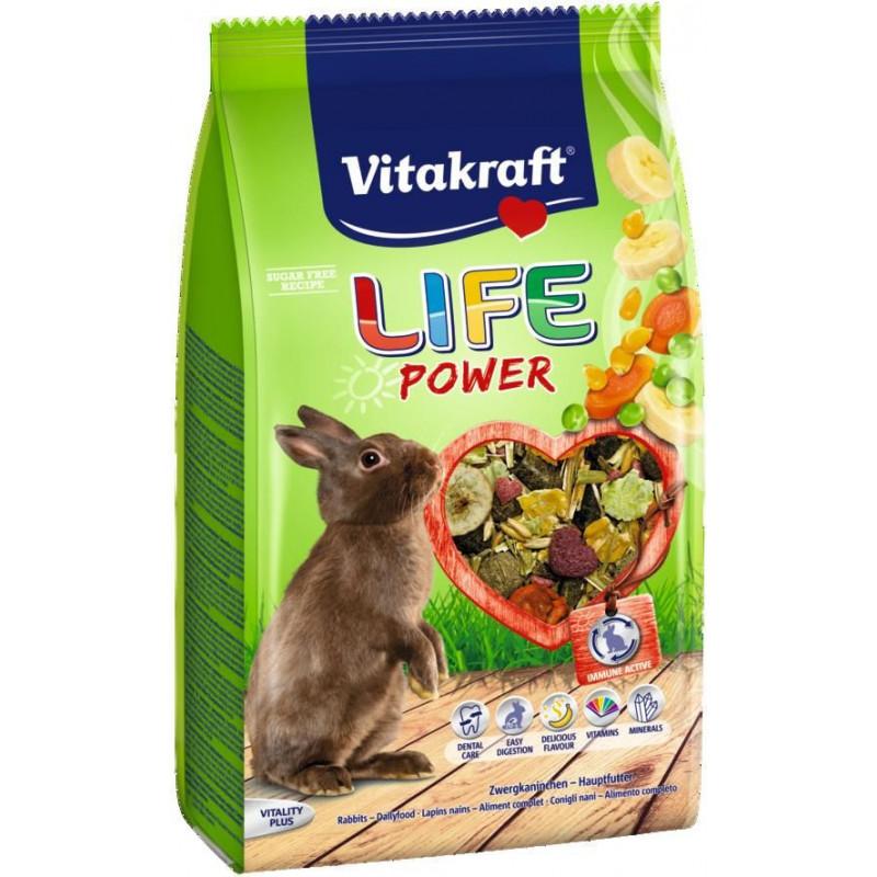 Корм VITACRAFT LIFE POWER для кроликов с бананом