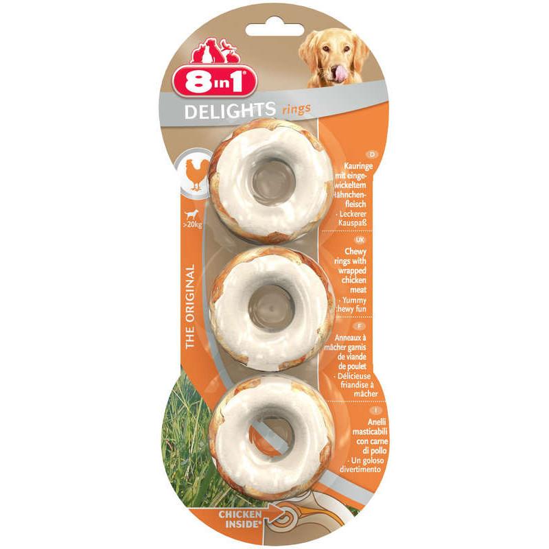 8in1 DELIGHTS RINGS (курица) Колечки для собак с мясом