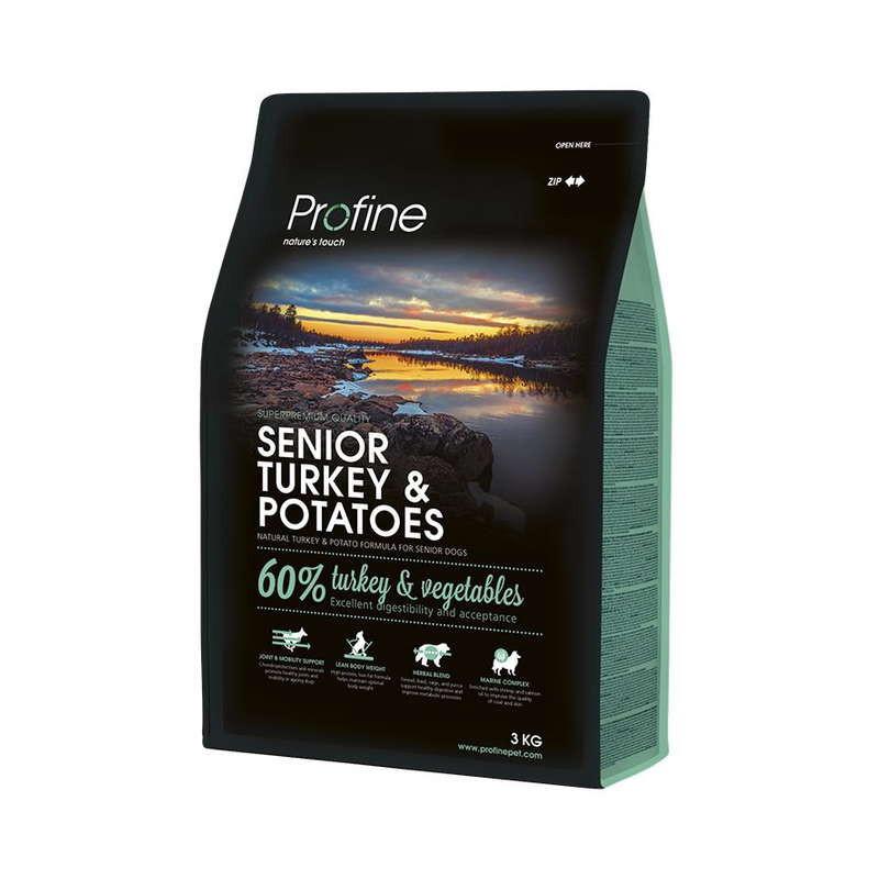 Profine (Профайн) Senior Turkey&Potatoes - Сухой корм для пожилых собак с индейкой и картофелем