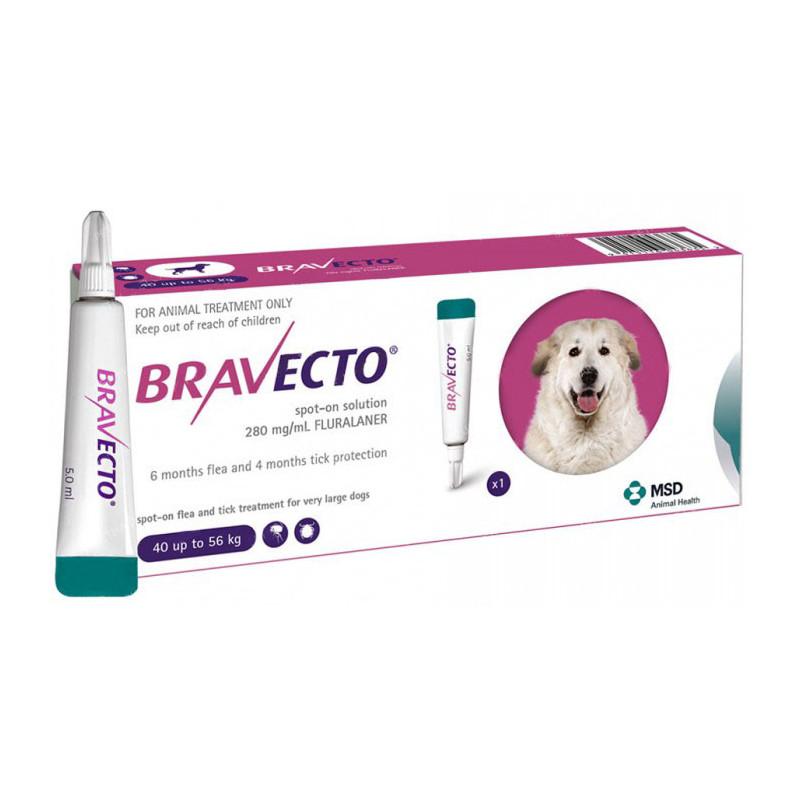 BRAVECTO (Бравекто) SPOT-ON - Капли от блох и клещей для собак весом от 40 до 56 кг