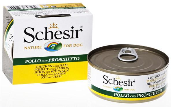 Schesir (Шезир) Chicken Ham ФИЛЕ КУРИЦЫ C ВЕТЧИНОЙ  натуральные консервы для собак