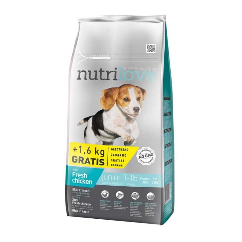Nutrilove (Нутрилав ) Junior Small & Medium - Корм для щенков малых и средних пород с курицей и рисом