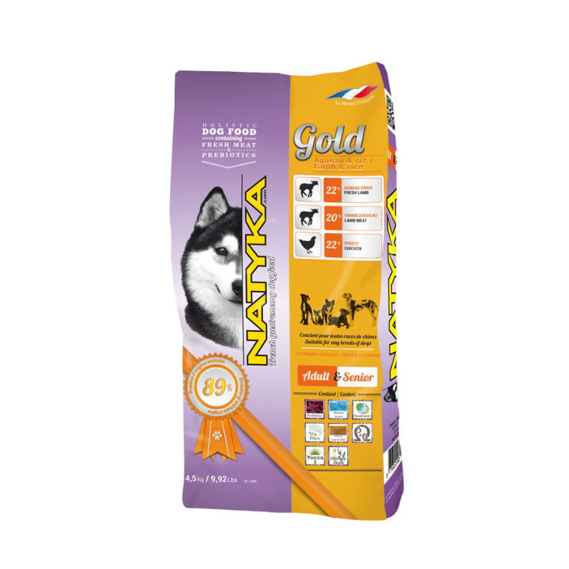 Natyka (Натика) Gold Lamb & Rice Dogs - Полувлажный корм для собак разных пород на всех этапах жизни