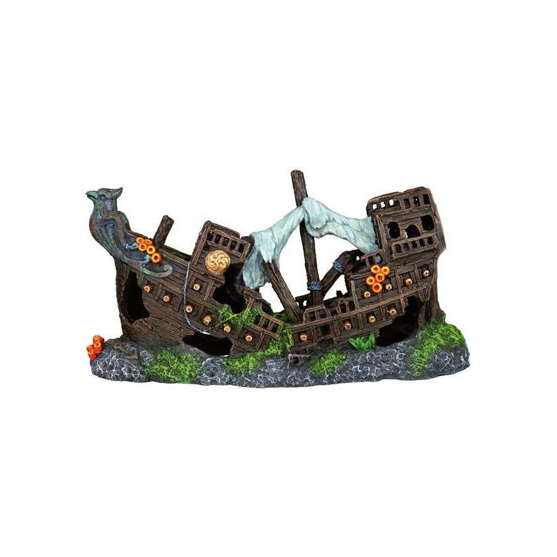 Trixie (Трикси) Decoration Shipwreck - Затонувший корабль для декора аквариума, 23 см