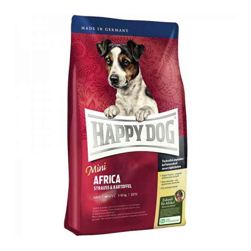 Happy Dog (Хэппи Дог) Mini Africa. Корм для взрослых собак мелких пород с мясом страуса и картофелем