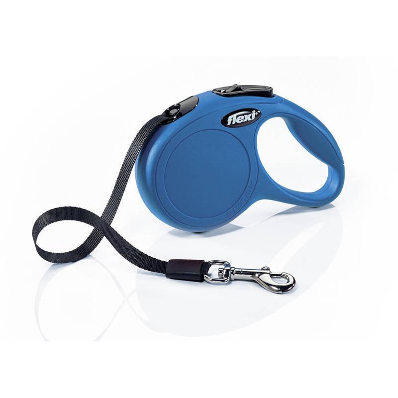 Flexi (Флекси) New Classic ХS - Поводок-рулетка для собак мелких пород, лента (3 м, до 12 кг)