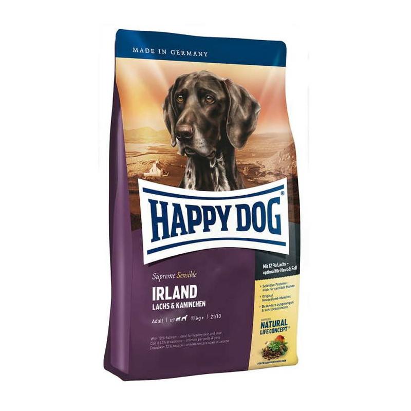 Happy Dog Supreme Sensible Irland Сухой корм для взрослых собак с лососем и кроликом