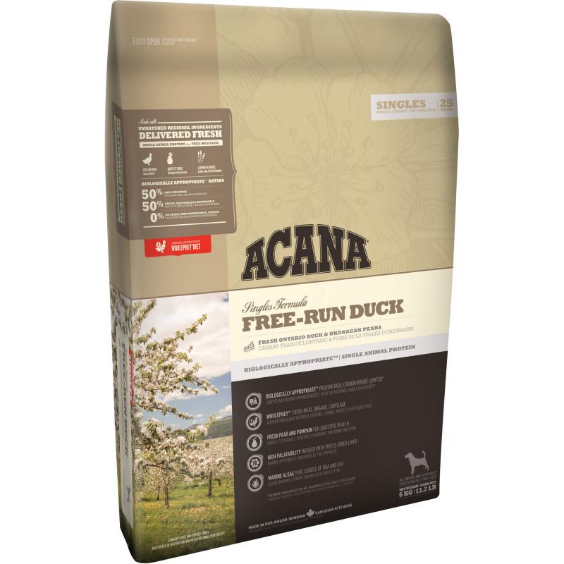 Acana (Акана) Free-Run Duck - Сухой корм с уткой для собак всех пород на всех стадиях жизни с чувствительным пищеварением