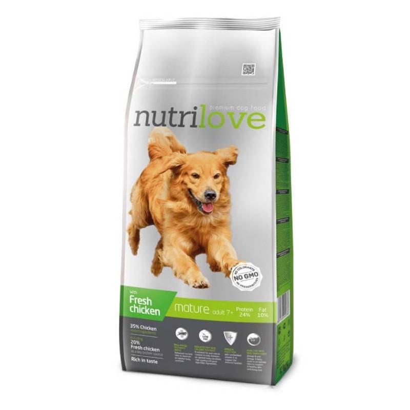 Nutrilove (Нутрилав ) Mature 7+  Корм для собак старше 7 лет,  с курицей и рисом
