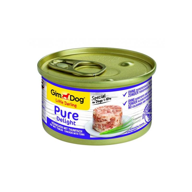 GimDog (ДжимДог) LITTLE DARLING Pure Delight - Консервы для собак с курицей и тунцом