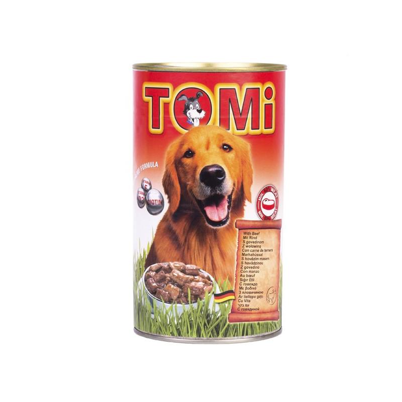 TOMi beef консервы для собак с говядиной в банке