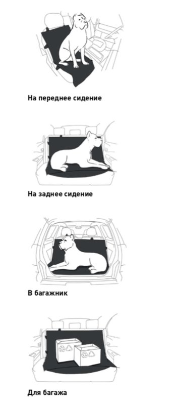 Collar (Коллар) Автогамак Collar для перевозки собак в легковом автомобиле или микроавтобусе - Фото 2