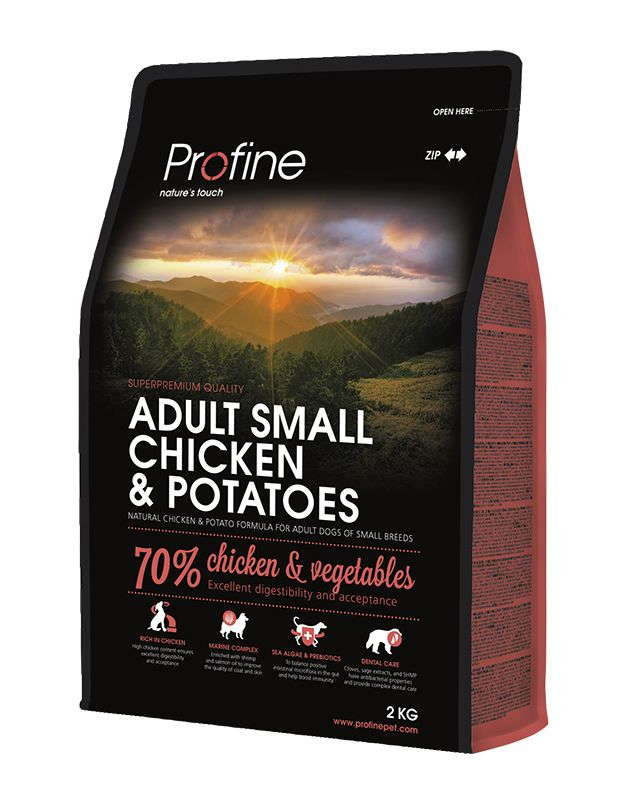 Profine (Профайн) Adult Small Breed Chicken&Potatoes - Сухой корм с курицей и картофелем для собак малых пород - Фото 2