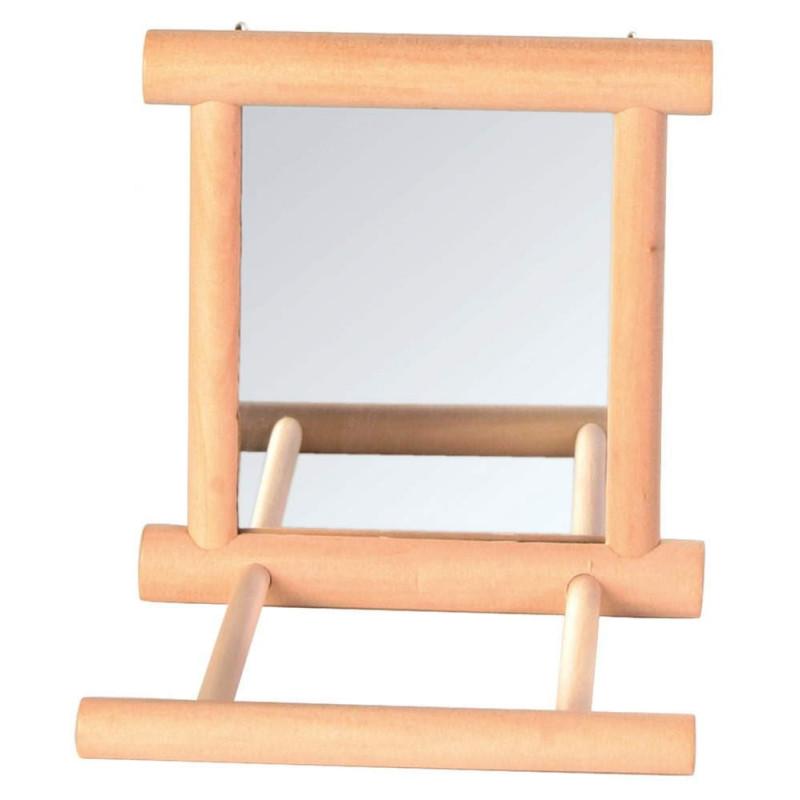 Trixie (Трикси) Зеркало в деревянной рамке с жердочкой