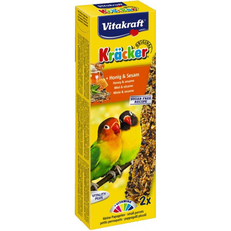 Крекер VITACRAFT для маленьких африканских попугаев с мёдом