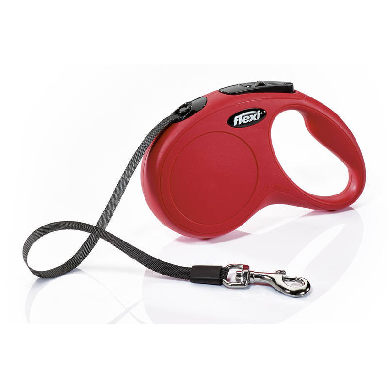 Flexi (Флекси) New Classic S - Поводок-рулетка для собак мелких пород, лента (5 м, до 15 кг)